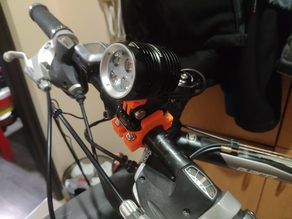 Nitefighter BT40S Bike Light GoPro Mount