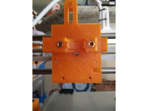 Slightly altered extruder mount for Hypercube Evolution