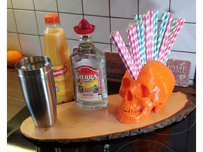 Mohawk Skull Straw Dispenser