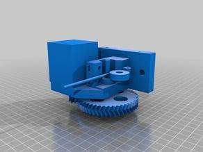 Extruder using 6mm Burr instead of hobbed bolt for Prusa i3