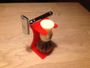 Safety razor and brush stand
