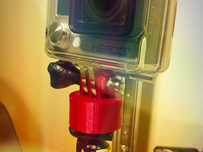 GoPro Tripod Mount with Standard 1/4-20 UNC Screw Thread