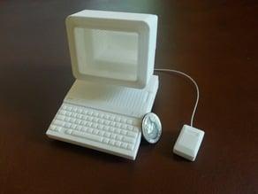 Apple IIc - 1:4 scale - flat