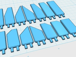 1/60 scale blast vent deflectors/articulated armor plates for robot scratchbuilding, kitbashing, and modding