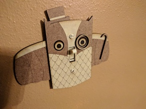 Superb Owl Light Switch Plate