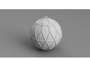 Christmas ball ornament with rings