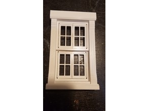 Dollhouse Window functional building house windows frame