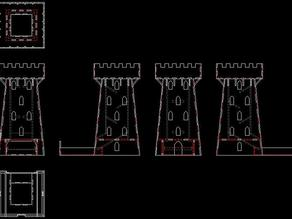 Laser cut dice tower