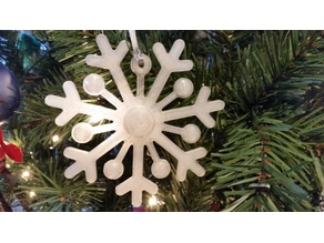 Snowflake Stylized Ornament - Designed by a five year old!