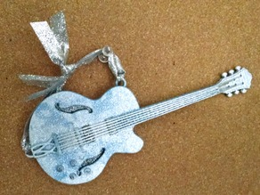 Semi hollow body guitar ornament