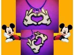 colgante manos Mickey Mouse
