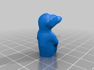 Splitted meercat for larger print