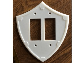 Hylian Shield Light Switch Plate