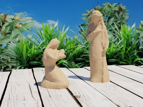 Mary and Joseph Statues