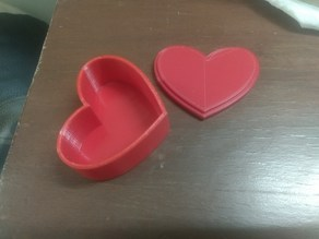 Heart shaped container