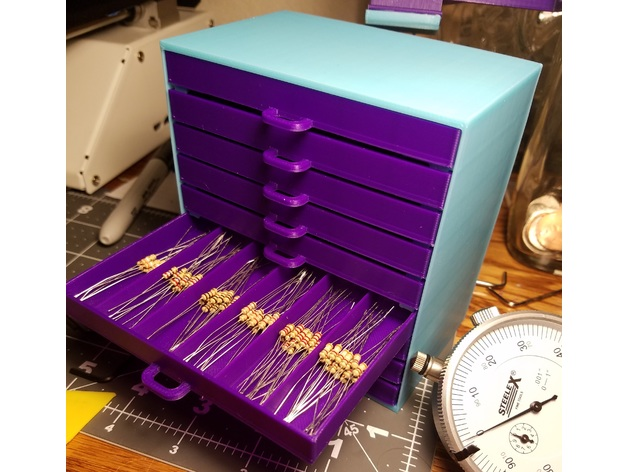 Resistor Storage Drawers By Griffin175 Thingiverse