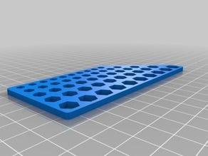 Hex Hole Design Aid/Calibration