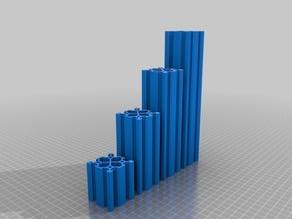 CNC / 3D Printer Parts - 4040 V Slot Linear Profile - 50mm - 200mm