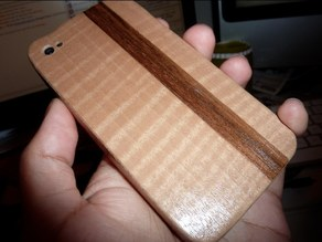 Woodbending form for iPhone 4 case