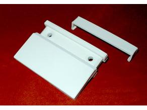Balcony door handle with cover (unbreakable!)