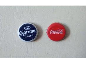 Bottle cap fridge magnet