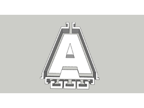 "Concrete mold for letter ""A"""