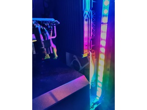 PC Case RGB led strip support with diffuser