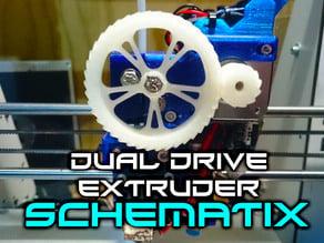 Schematix: Dual Drive Extruder (Fits E3D v6)
