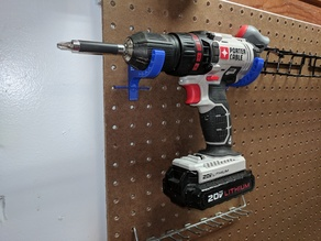 Pegboard Drill driver holder