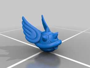 Spiky Blue Turtle Shell Winged