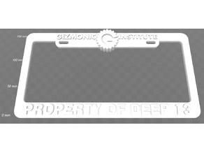 Gizmonic Institute - Property of Deep 13 License Plate Frame, MST3K