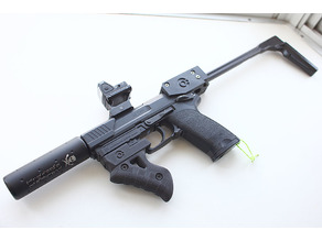 Fore Grip and Stock Adapter for USP(electric) Tokyo MARUI