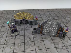 DungeonSticks: Caverns - Drow Web Walls