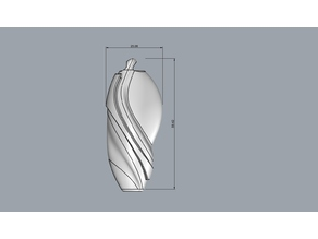 An abstract keyring or pendant