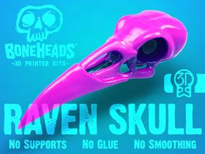 Boneheads: Raven - Skull Kit - PROMO - 3DKitbash.com