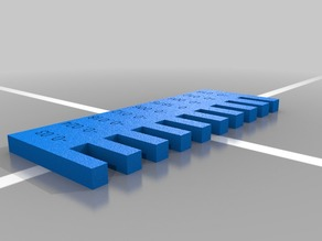 Customizable Laser Cutter Calibration Comb
