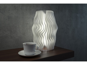 Generative design. Wave lamp 5 (LQ) version