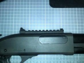 Reciever rail with fixed sights for Tokyo Marui M870 Tactical/Breacher airsoft shotgun
