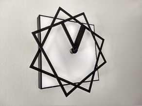 Square Rotating Clock