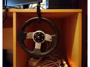 S-clamp for steering wheel holder