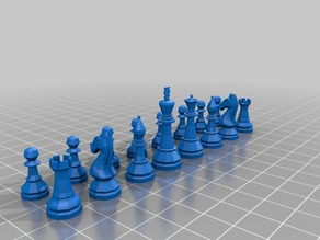 Windows 7 Chess Titans Hacked (Extracted) Chess Piece Models