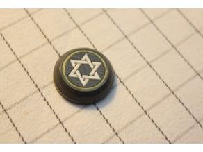 star of David, Звезда Давида, ручка, значек, intarsia