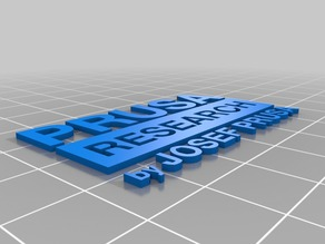 Prusa Research logo on platform (Seperate parts for Multi Color print)