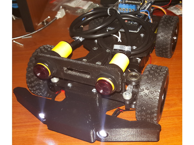 4WD RC Smart Car Chassis for Arduino (or ESP) - Bumper & E18