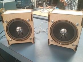 "Laser Cut 4"" Speaker Case"