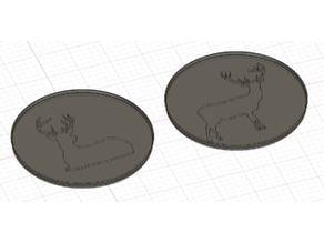 Deer glass coasters