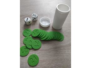 421 kit :  box, token and dice