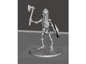 28mm Skeleton Warrior with Axe and Shield