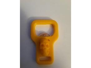 3D Skull Penny Bottle Opener