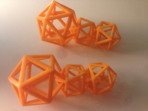 Icosahedron Geometric Earrings